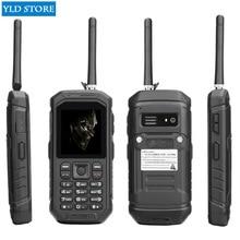 Clavier russe JEASUNG X6 UHF talkie-walkie IP68 téléphone Mobile robuste étanche 2500 mah 2.4 pouces double carte SIM GSM