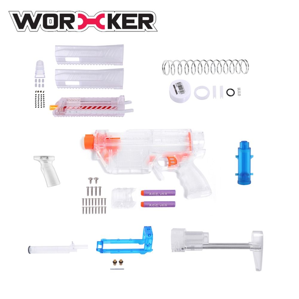Worker Prediction R Series MCX Modeling Short Bullet Transformed Kit for Nerf(Power Version) - Transparent
