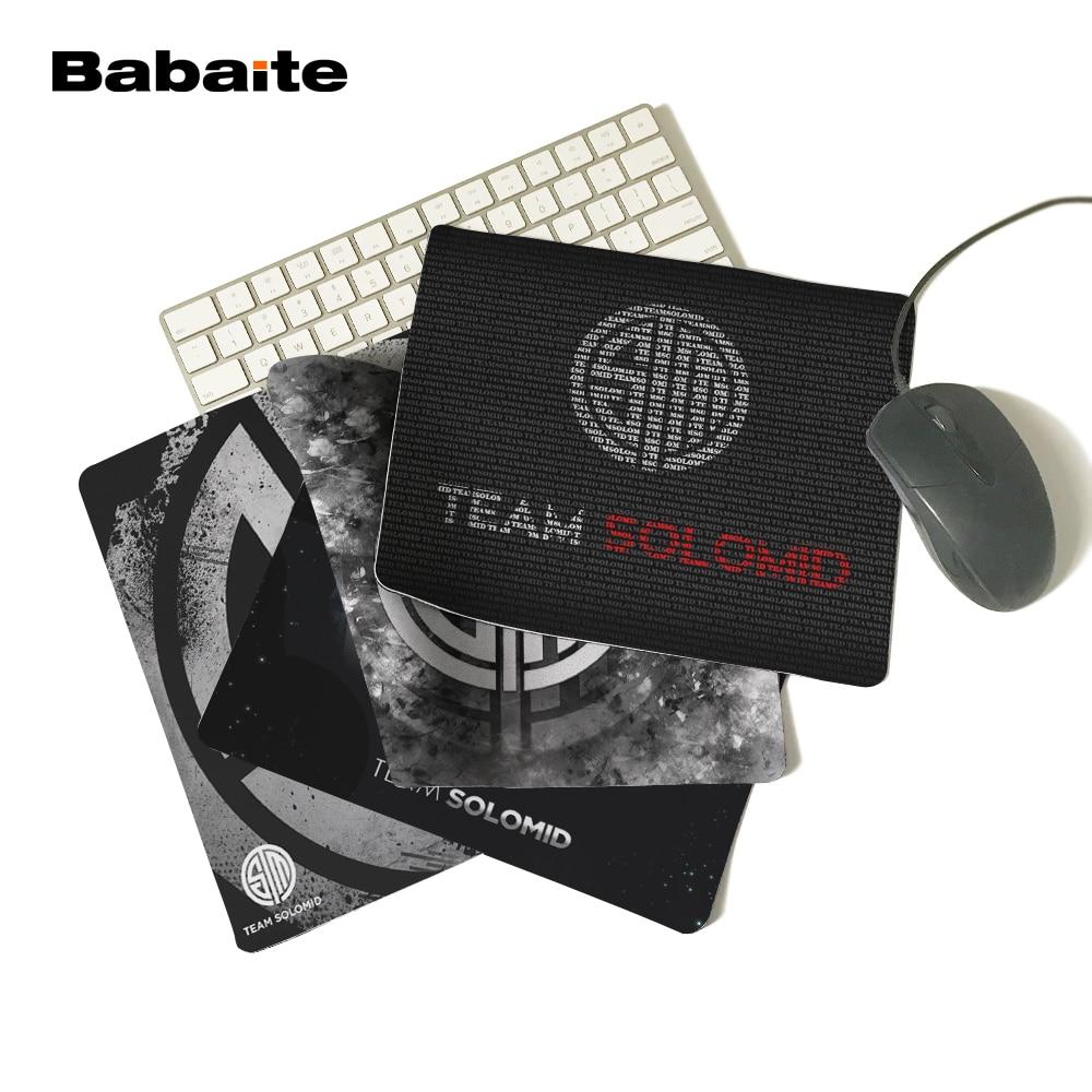 Babaite ekskluzīvs dizains QCK peles paliktnis LOL spēļu komanda Solo vidus peles matracis TSM datora piezīmjdators taisnstūra gumijas peles paklājs