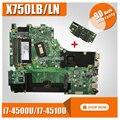 Отправить плату + для For Asus X750LN X750LB X750L K750L A750L материнская плата для ноутбука с GT740M/2 ГБ i7-4500U/I7-4510U 100% ТЕСТ ОК