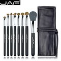 Studio 8 unids Make Up Brush Sets en Kit de Pinceles de Maquillaje Estuche De Cuero con Cadena J0811YC-B Pelo Natural de Los Animales