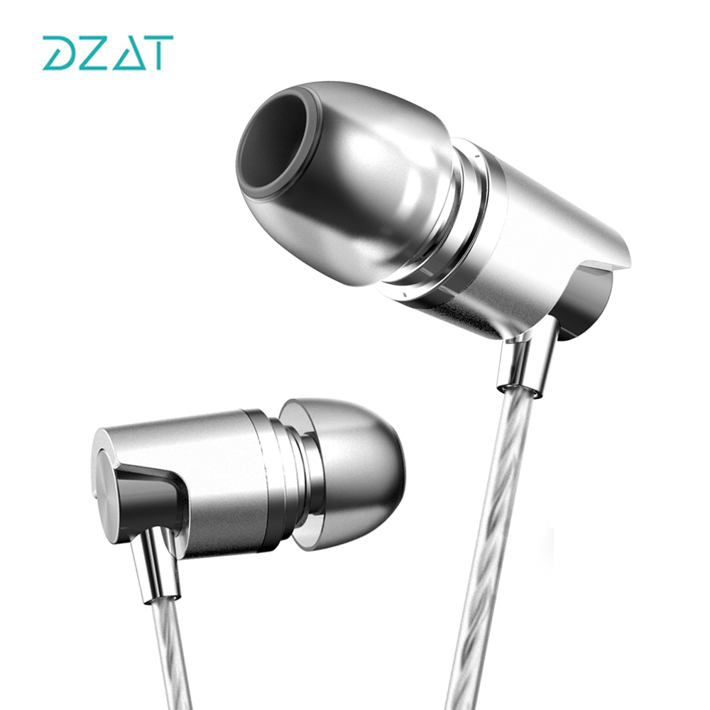 DZAT DR20 In Ear Earphone Sport Running With Mic HIFI Earphones Bass Wired Headset For iPhone Xiaomi MP3 in stock zs5 2dd 2ba hybrid in ear earphone hifi dj monito bass running sport headphone headset earbud fone de ouvid for xiomi
