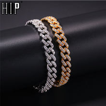 Hip Hop 8MM Bling Iced Out Cubic Zirconia Bracelet Geometric AAA CZ Stone Tennis Cuban Chain Bracelets Men Women Jewelry(China)