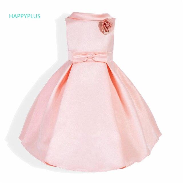 c30358904565b HAPPYPLUS Cérémonie D'été Petite Fille Robe de Soirée Élégante Rose Fleur  Fille Robe D
