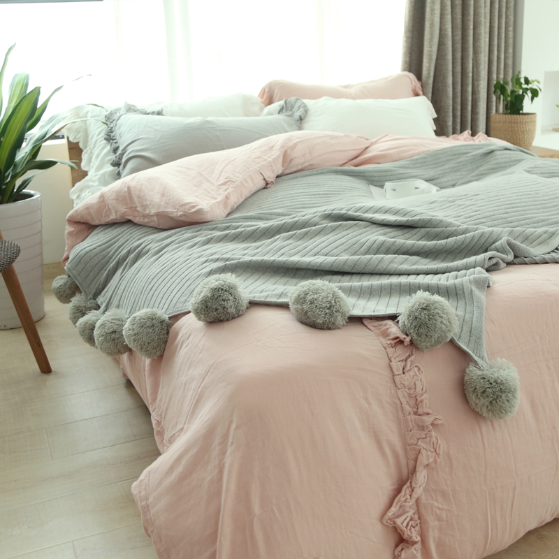 grey bubble  Knitted cotton white throw blanket for bed sofa travel plane 150*200cm блуза sack s sack s mp002xw1f60d