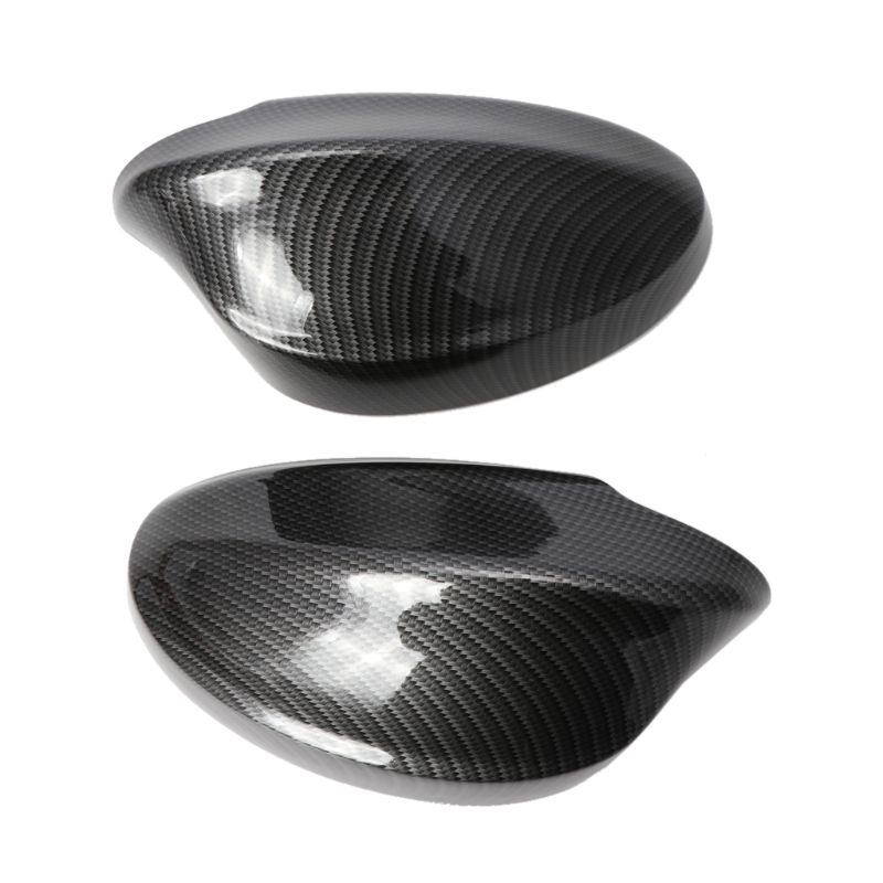 2Pcs Rearview Mirror Covers Side Mirror Cap Carbon Fiber Pattern ABS Shell For BMW E90/E91/330i/335i/2005 2008|Mirror & Covers| |  - title=