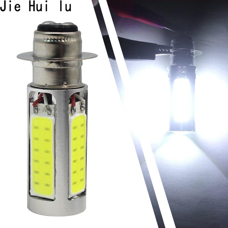 1Pair 6000K White H6M COB LED Motor BikeATV Headlight Fog Light Bulb PX15d  Car Accessories