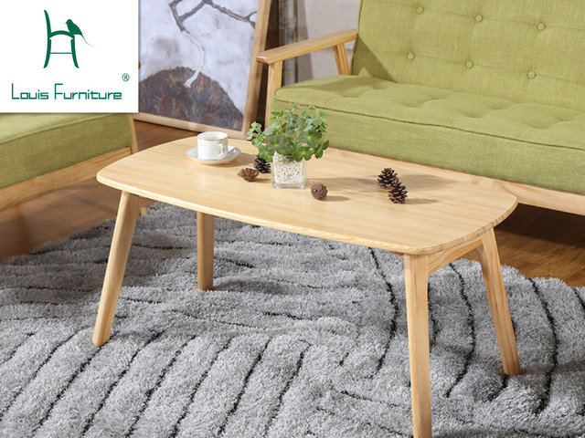 Japanese Coffee Table Pine Wood Solid Wood Tea Table Modern Simple Coffee Table