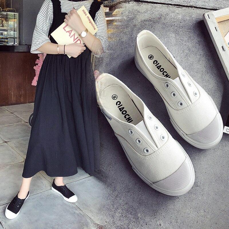 Lona Deporte Mocasines 2019 Zapatos De Blanco Nuevo otoño en red Black Moda Zapatillas Planos white Casual Promoción Primavera Slip Mujer x4zXqw0FX