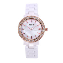 Free Shipping Kezzi Women s Ladies Men Watch K801 Quartz Analog Ceramic Dress Wristwatches Gifts Bracelet