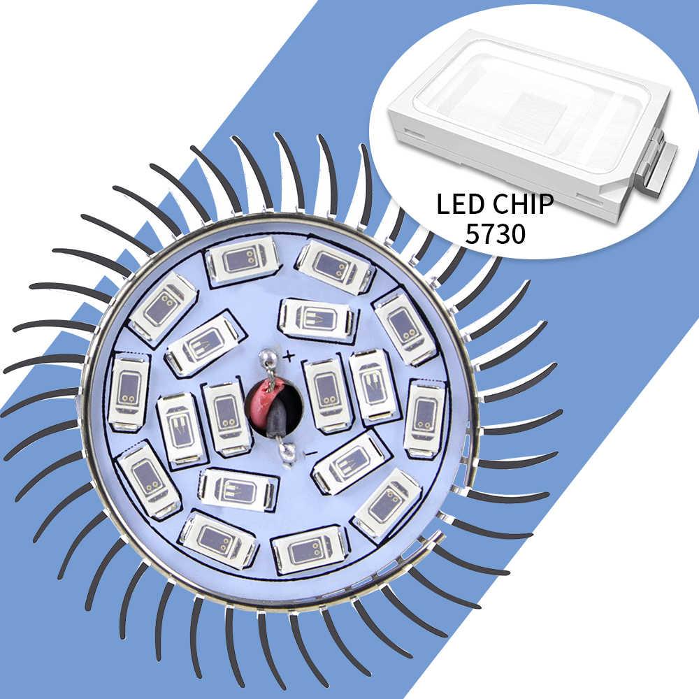 Işık Büyümeye Yol Açtı 220 V Tam Spektrum Fitolampy E14 Kapalı Lamba Büyümeye Yol Açtı 18 leds E27 Sera UV/IR LED bitki Ampul hidroponik sistemleri