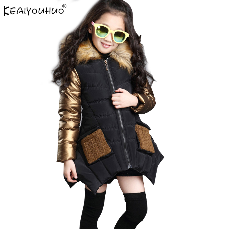 a8a0e6c4e Buy girls down coats black and get free shipping on AliExpress.com