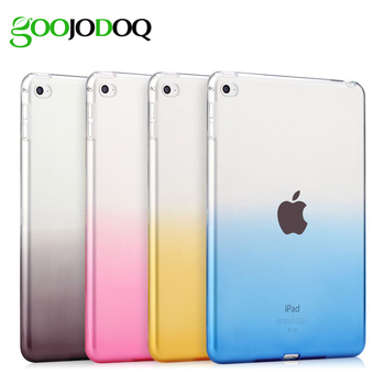 Case For iPad Air 1 Air 2 Silicone Soft back Cover Transparent Gradient Color Ultra Slim Shell Cover For Apple iPad Mini 1 2 3