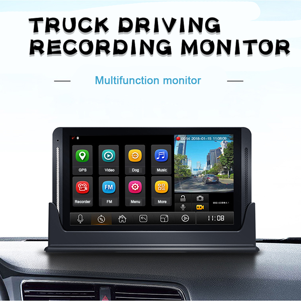 Z7 7inch Touch Screen Monitor With 15M/28M/35M Cable System For Truck/Bus Rear Cameras 2CH DVR Recorder Driving Video Recording