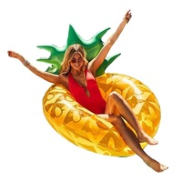 120cm Giant Pineapple Inflatable Swimming Ring Adult Summer Party Pool Float Children Water Tube Toys,HA044