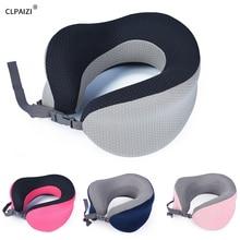 CLPAIZI Travel Pillow, Soft and Comfortable Memory Foam Neck Pillow Portable Outdoor U-shaped D30