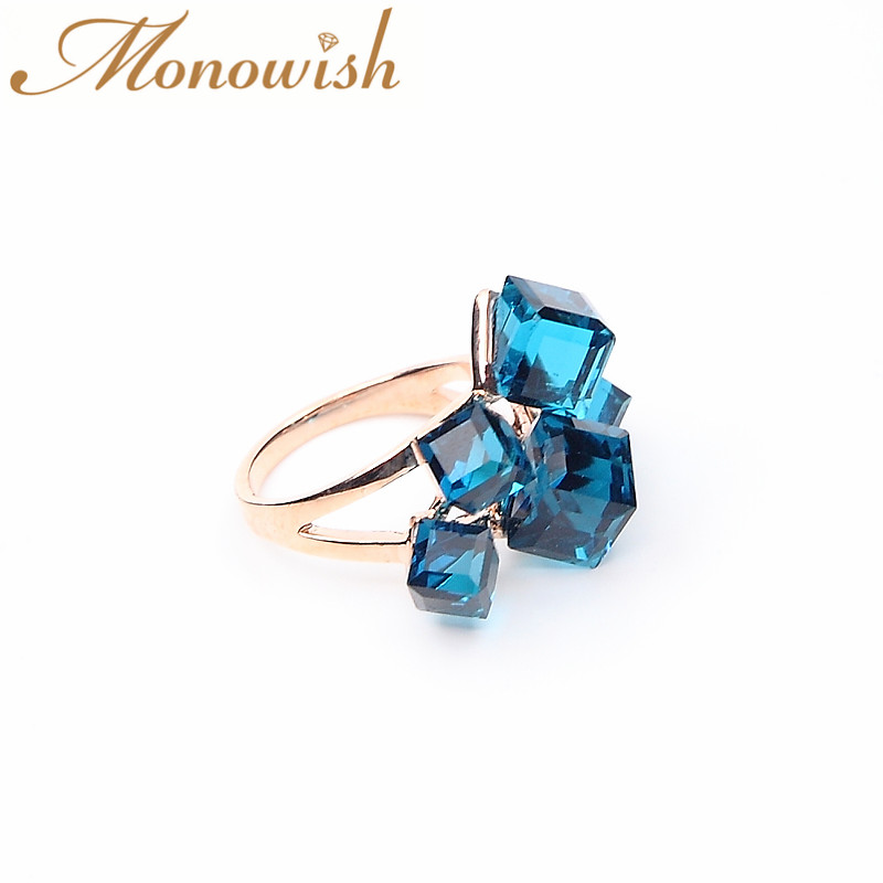 swarovski crystal mujer anillos