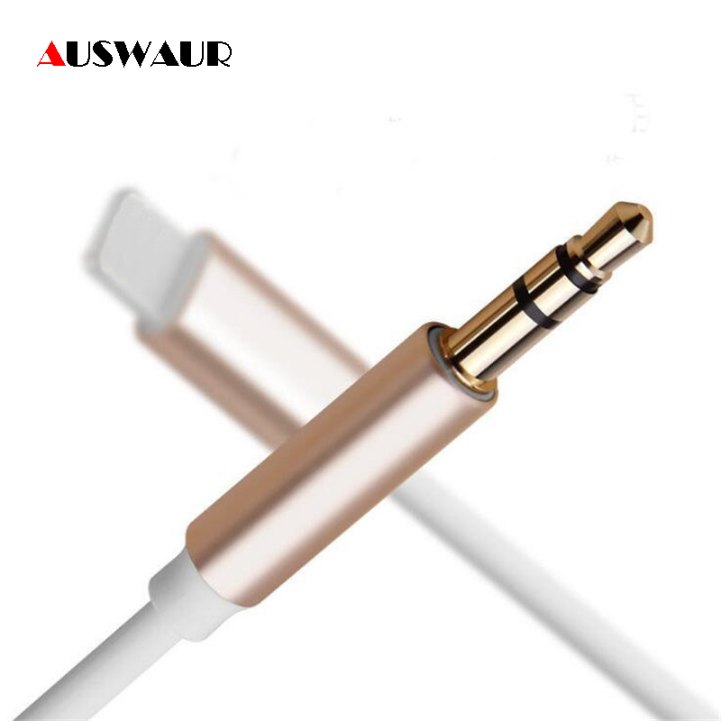 Car Stereo Aux Adapter Cable For IPhone Male To 3.5mm Male Aux Audio Cable 1M For IPhone IPod IPad Audio Cable(China)