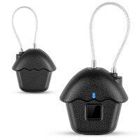 Home USB Rechargeable Fingerprint Lock Zinc Alloy Luggages Anti Theft Keyless Smart Padlock Door Waterproof Suitcase Biometric