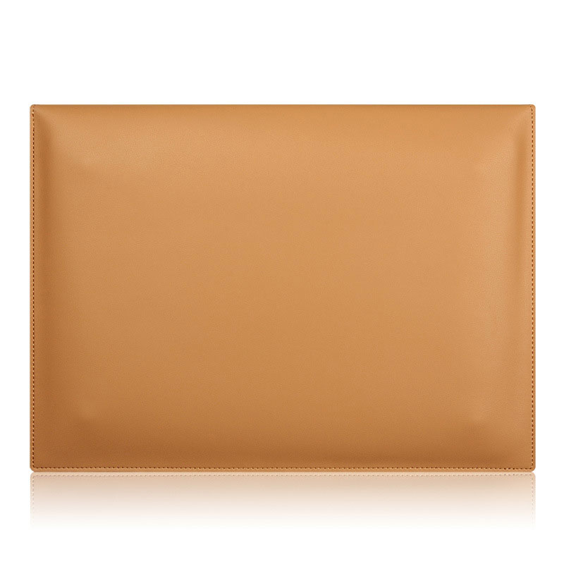 Brown Genuine Leather Envelope Sleeve Bag Case Notebook Cover Pouch For MacBook Pro Retina Air 11