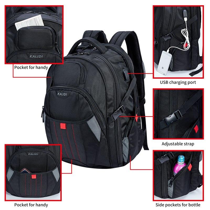 KALIDI Large Laptop väska 18,4 17,3 tums svart datorväskor - Laptop-tillbehör - Foto 2