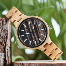 Ladies Watches 2017 Full Natural Bamboo Wood Watch Women's Bracelet Quartz Wrist Watch Unique Beauty Relogio Feminino