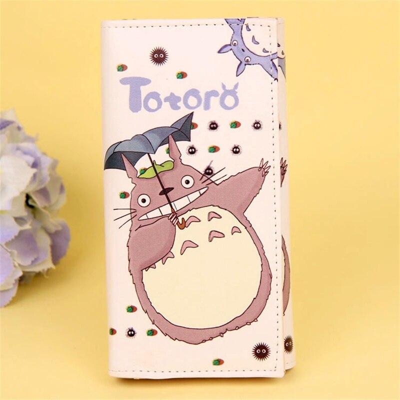 2019 Cartoon Totoro Lange Brieftasche Frauen Pu Leder Brieftaschen Dame Casual Geldbörse Karte Halter Carteira Feminina Männer Brieftasche Extrem Effizient In Der WäRmeerhaltung