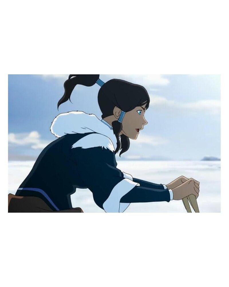 Avatar: la légende de Korra Korra Costume Cosplay perruque épaisse livraison gratuite pour Halloween et noël