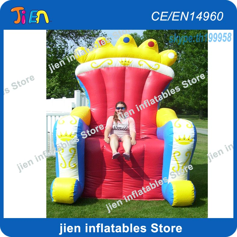 Free Air Shipping To Door 2x2x2 5mh Throne Inflatable