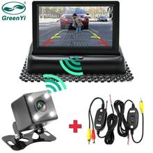 GreenYi Wifi беспроводная камера заднего вида автомобиля складной монитор видео система Автомобильная Парковка монитор с камерой заднего вида