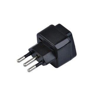 цена на 3pin Brazil Brazilian AC Power Plug UK/US/EU To Brazil Brasil Socket Travel Power Adapter Plug 3 Pin Converter Type N Plug