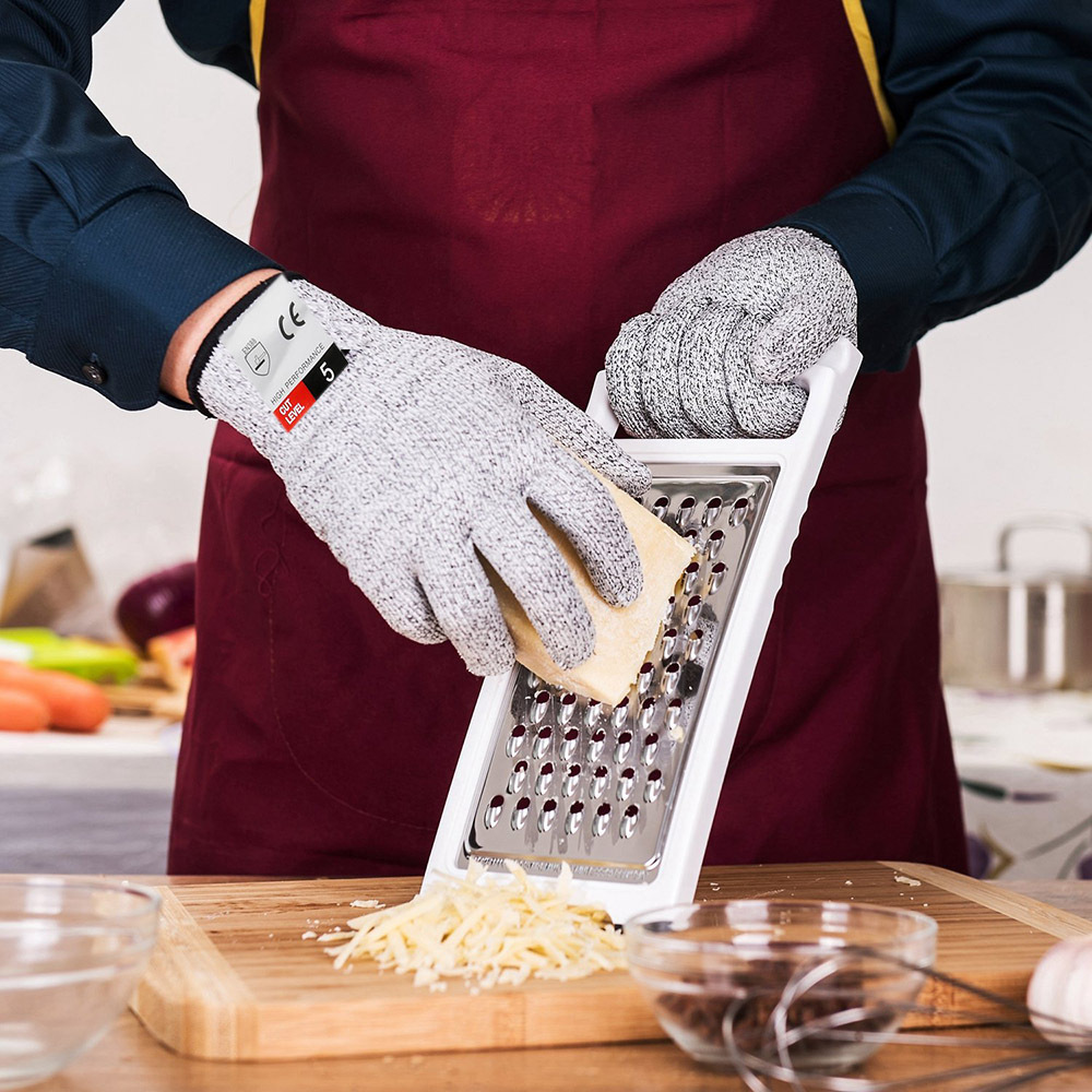 Men Cut Resistant Gloves Hppe Anti-Cut Glove Working Gloves Protective Finger Kitchen Wear-Resistant Safety Gloves S-Xl