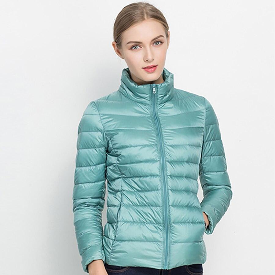 2018 Autumn Winter Women Coat Jacket Ultra Light Down 90% White Duck Down Jacket Coats ladies' Down Warm Parkas Spring Outwear