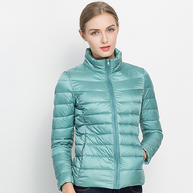 4a3928c4c 2018 Autumn Winter Women Coat Jacket Ultra Light Down 90% White Duck Down  Jacket Coats ladies' Down Warm Parkas Spring Outwear -in Down Coats from ...