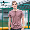 Pioneer Camp New Button T Shirt Men Brand Clothing Fashion Solid Summer T Shirt Male Top