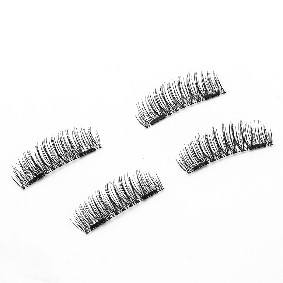 HaHaLash Magnetic Eyelashes 6D eype with two tiny magnets Natural curl Hand Made Factory Sell Eyelashes extention-HH-24P-2