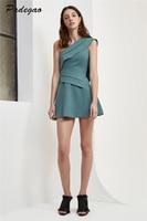 PADEGAO סקסי בזווית מחשוף כבוי כתף נשי טוניקת שמלת מיני נשים אלגנטית נשי קיץ 2017 בגדי משרד באיכות גבוהה