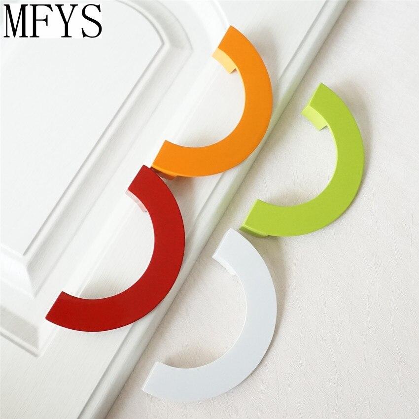 Colorful Drawer Pulls Handles Dresser Pull Kitchen Cabinet Door Handles Knob Hardware Red Green White Orange Children 96mm