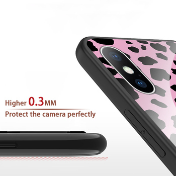 Luxury Tempered Glass Case For iPhone Leopard Print Protective Phone Back Cover Case Shell 3