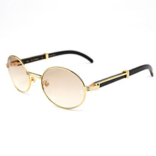 Retro Carter Sunglasses Round Glasses Frame Wood Eyeglasses Carter Glasses Men Sunglasses for Men Gold Frame Eyewear Accessories