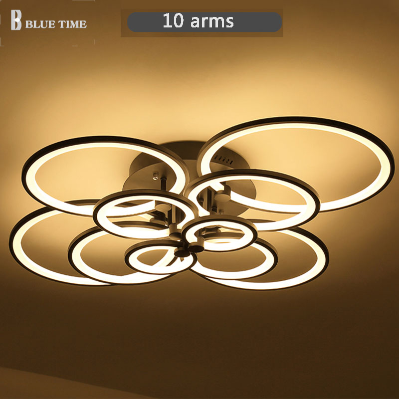 Black/White Color Modern Led Ceiling Lights For Living Room Bedroom Plafon Led Home Lighting Ceiling Lamp Home Lighting Fixtures new modern led ceiling lights for living room bedroom plafon home lighting combination white and black home deco ceiling lamp