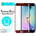 3D FULL COVER Tempered Glass film for Samsung Galaxy S6 Edge + Full Curved Edge screen protector  film Toughened protective film