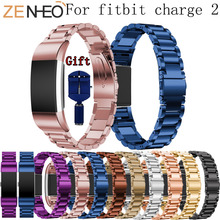 Stainless Steel Watch Band for Fitbit Charge 2 Strap Bracelet Wrist Replacement For Bands with Adjust Tools