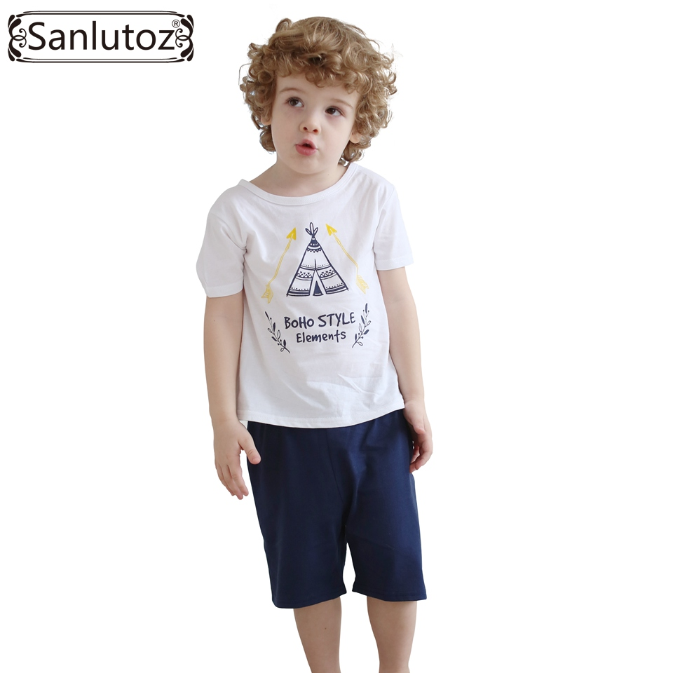 Children Clothing Boys Set Summer Kids Clothes 2016 Sport Suits Cotton for Boys Toddler Baby (Tshirts + Shorts)