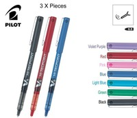 3pcs Lot Japan Pilot V5 Liquid Ink Pen 0 5mm 7 Colors To Choose BX V5