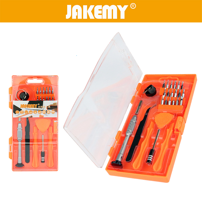 JAKEMY 26 in 1 Phone Repair Tool Precision Screwdriver Set Tweezer for Cell Phone Disassembly Repairing Set