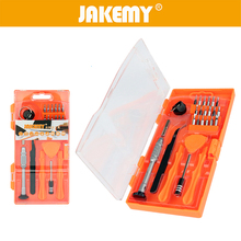 цена на JAKEMY 26 in 1 Phone Repair Tool Precision Screwdriver Set Tweezer for Cell Phone Disassembly Repairing Set