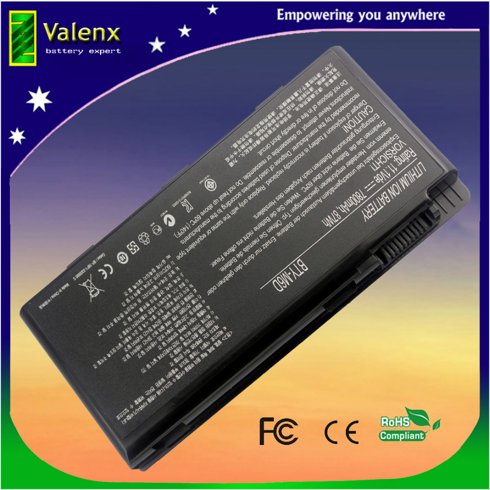 laptop battery BTY-M6D for MSI GT660 GT663 GT683 GT685 GT70 GT780 GT783 GX60 GX660 GX680 GX780 S9N-3496200-M47 cndst cctv sony ccd black and white mini square camera low lux 22x22mm 480tvl 600tvl mini b w industrial camera 3 6mm board lens
