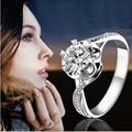 Corazones y Flechas Anillo de Oro sólido 14 K Oro Blanco 0.45CT Anillo de Compromiso Joyería Femenina SONA Simular Diamante Joyería para mujeres