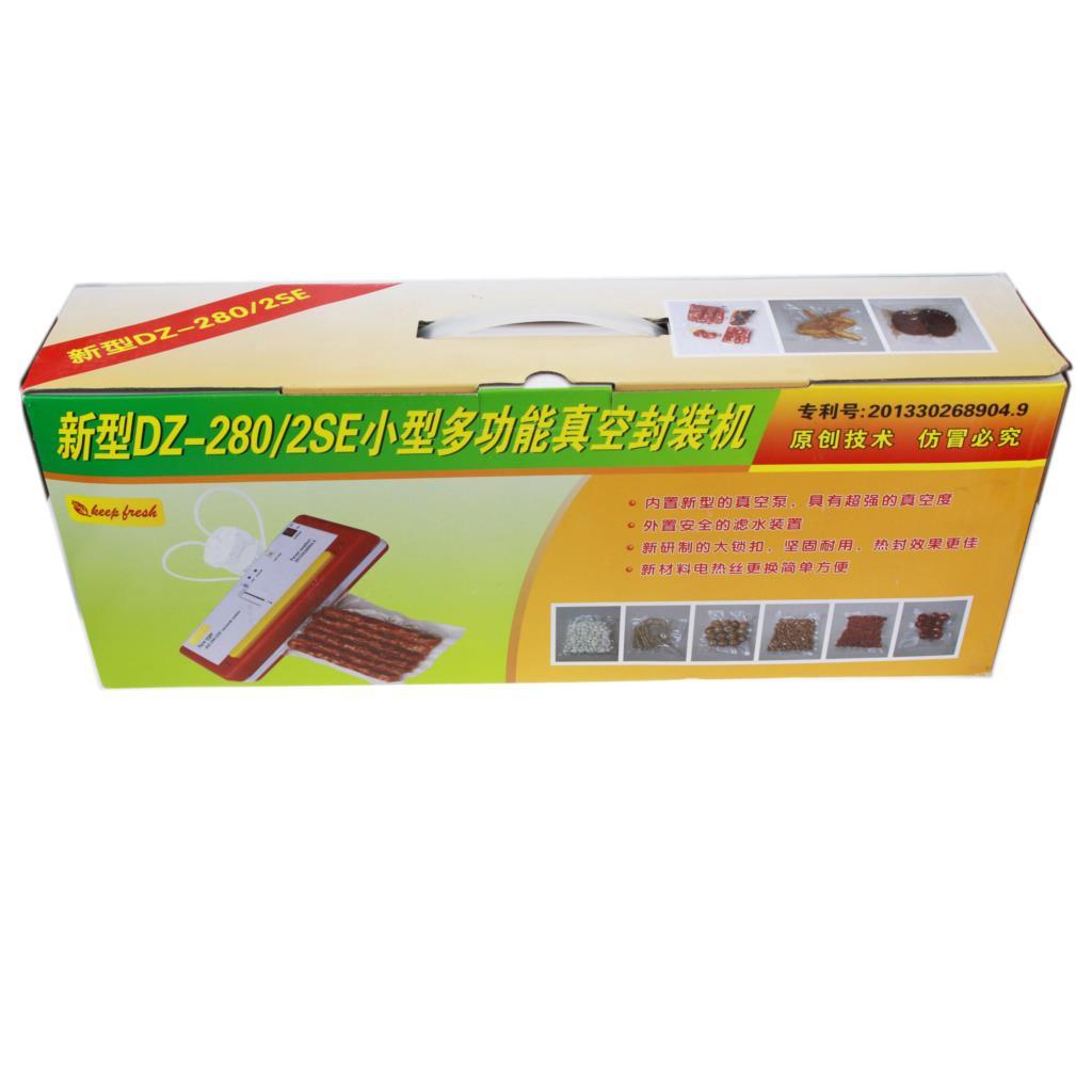 Купить с кэшбэком Food Vacuum sealing machine can wet and dry fresh frozen bakery packing sealer sealing bags appliances DZ-280/2SE